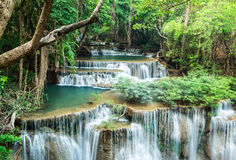 Waterfall at Huay Mae Khamin Stock Photos