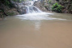 Waterfall in Huay to krabi Thailand Royalty Free Stock Image