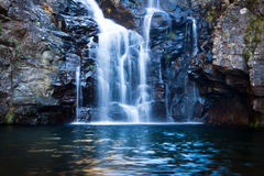 Waterfall. A huge waterfall with a lake in front Royalty Free Stock Images