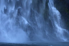 Waterfall. Huge waterfall in New Zealand stock photos