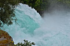 Waterfall, Huka Falls, New Zealand Royalty Free Stock Images