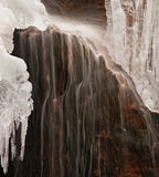 Waterfall And Ice Royalty Free Stock Image