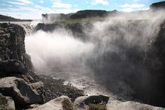 Waterfall Iceland. Nature scenery waterfall godafoss Iceland Stock Photos