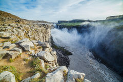 Waterfall In Iceland Stock Image