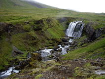 Waterfall in Iceland. Waterfall along the Ring Road, Iceland Royalty Free Stock Image