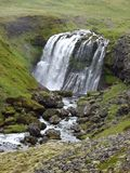 Waterfall in Iceland. Waterfall along the Ring Road, Iceland Stock Image