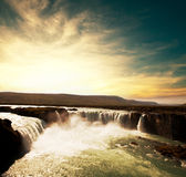 Waterfall in Iceland Stock Photos