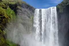 Waterfall in Iceland stock photography