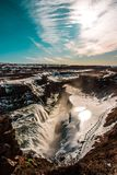 Waterfall in Iceland royalty free stock photo