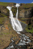 Waterfall in Iceland stock images