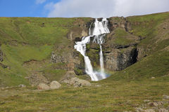 Waterfall in Iceland royalty free stock photography