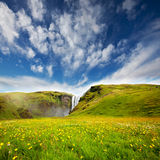 Waterfall in Iceland. Scogarfoss waterfall,Iceland Stock Image