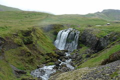Waterfall in Iceland. Waterfall and stream along the Ring Road, Iceland Royalty Free Stock Photos