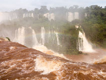 Waterfall at Iguassu Falls Stock Photos