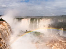 Waterfall at Iguassu Falls Royalty Free Stock Photos