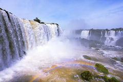 The waterfall  Iguazu. The Brazilian side Stock Photos