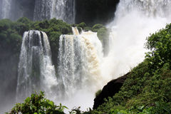 Waterfall in Iguazu Falls. In Argentina Stock Photos