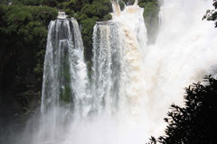 Waterfall in Iguazu Falls Royalty Free Stock Photos