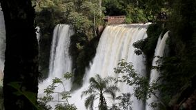 Waterfall in Iguazu stock video footage