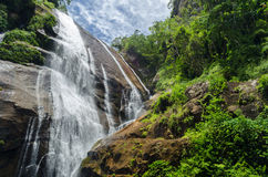 Waterfall in Ilhabela, Brazil Stock Images