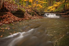 Free Waterfall In Autumn Stock Photography - 46028532