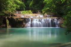 Waterfall In Deep Forest Stock Photography