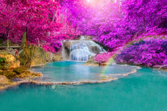 Free Waterfall In Deep Forest At Erawan Waterfall National Park Royalty Free Stock Photography - 54420827