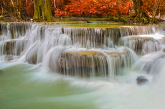 Free Waterfall In Deep Rain Forest Jungle (Huay Mae Kamin Waterfall) Royalty Free Stock Image - 46224876