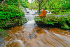 Waterfall In Rainforest In Thailand Stock Photo