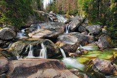 Waterfall In Tatra Mountain, Slovakia - Studenovodsky Stock Photos