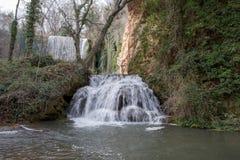 Waterfall In The Stone Monastery In Aragon Stock Photos