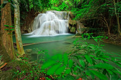 Waterfall In Tropical Forest, West Of Thailand Stock Photo