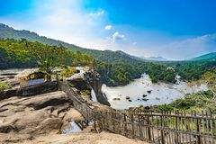 Waterfall in India royalty free stock images