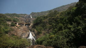 Waterfall in India stock video footage