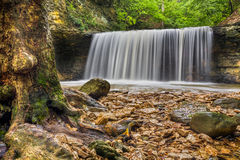 Waterfall at Indian Run Royalty Free Stock Images