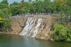 Waterfall on island Stock Image