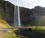 Waterfall on Iceland Stock Photography