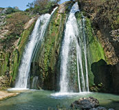 Waterfall at Israel. At spring Royalty Free Stock Photo