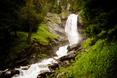 Waterfall in the Italian mountains royalty free stock photos