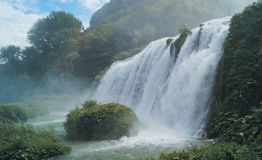 Waterfall in Italy. Stock Images