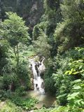 Waterfall in Italy Stock Photography