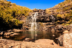 Waterfall and its lake Royalty Free Stock Photo
