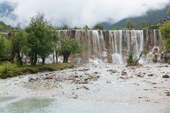 Waterfall jade dragon snow Royalty Free Stock Image