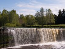Waterfall Jagala in Estonia Stock Photos