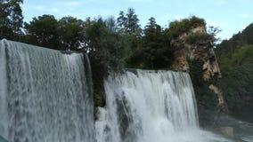 Waterfall Jajce stock video