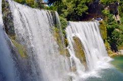 Waterfall in the Jajce,Bosnia and Herzegovina. Travel to Europa.Waterfall in the Jajce,Bosnia and Herzegovina royalty free stock image