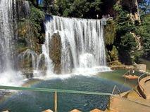 Waterfall in the Jajce,Bosnia and Herzegovina. Travel to Europa.Waterfall in the Jajce,Bosnia and Herzegovina stock image