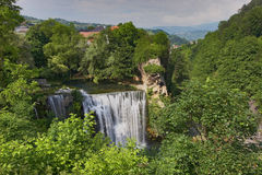 Waterfall Jajce Stock Photo