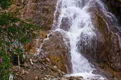 Altai: waterfall jalama burkhanism Royalty Free Stock Photo