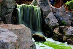 Waterfall Japanese Garden Royalty Free Stock Photo